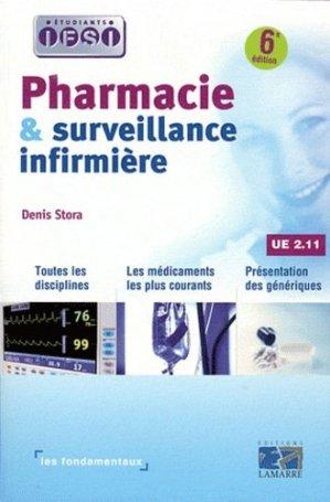 Pharmacie et surveillance infirmière UE 2.11 - lamarre - 9782757304426 -