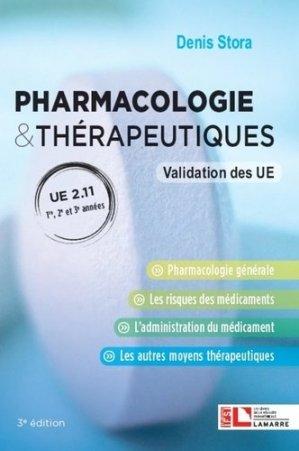 Pharmacologie & thérapeutiques, UE 2.11 - lamarre - 9782757310687