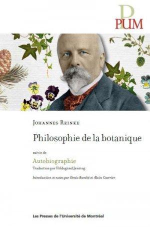 Philosophie de la botanique - presses de l'universite de montréal - 9782760640412 -