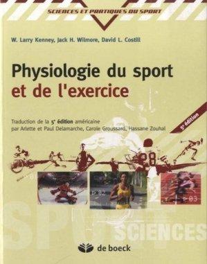 Physiologie du sport et de l'exercice-de boeck superieur-9782804177737