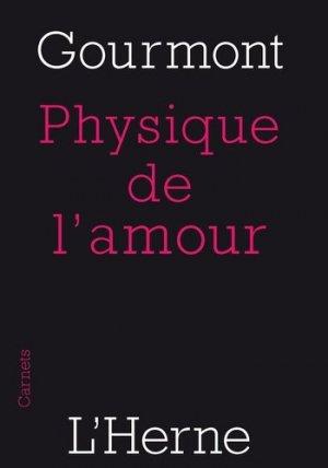 Physique de l'amour - l'herne - 9782851973061 -