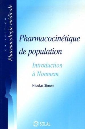 Pharmacocinétique de population Introduction à Nonmem - solal - 9782914513999 -