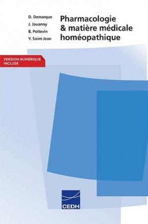 Pharmacologie et matière médicale homéopathique - cedh - 9782915668391 -