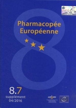 Pharmacopée européenne. 3 volumes, suppléments 8.6, 8.7, 8.8, Edition 2015 - Conseil de l'Europe - 9789287179500 -