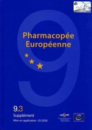 Pharmacopée européenne 9ème édition 9.3 9.4 9.5 - edqm / conseil de l'europe - 9789287183323 -