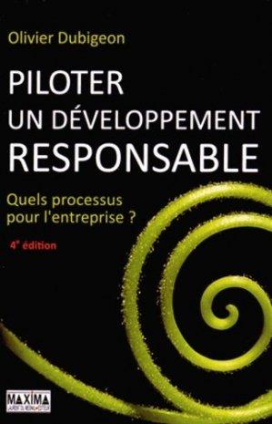 Piloter un développement responsable - Maxima Laurent du Mesnil éditeur - 9782840018124 -