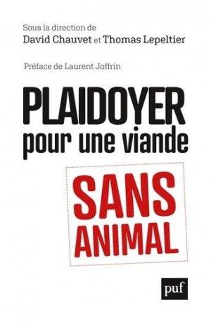 Plaidoyer pour une viande sans animal - puf - presses universitaires de france - 9782130824626 -
