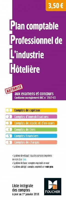 Plan comptable professionnel de l'industrie hôtelière - foucher - 9782216153329 -