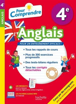 POUR COMPRENDRE ANGLAIS 4E  - HACHETTE - 9782017013938 -