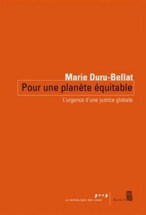 Pour une planète équitable - Seuil - 9782021158854 -