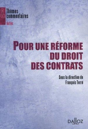 Pour une réforme du droit des contrats - dalloz - 9782247081790 -