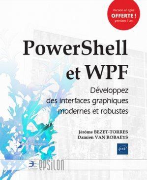 Powershell et WPF - eni - 9782409020209 -