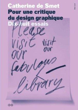 Pour une critique du design graphique - B42 - 9782490077199 -