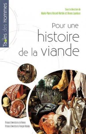 Pour une histoire de la viande - presses universitaires francois rabelais - 9782753553491 -