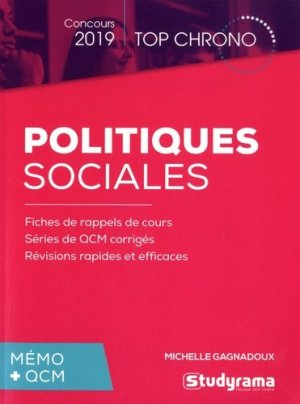 Politiques sociales - Studyrama - 9782759039135