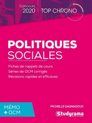 Politiques sociales. Mémo + QCM, Edition 2020 - Studyrama - 9782759041879 -