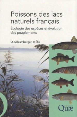 Poissons des lacs naturels français - quae / cemagref - 9782759200306 -