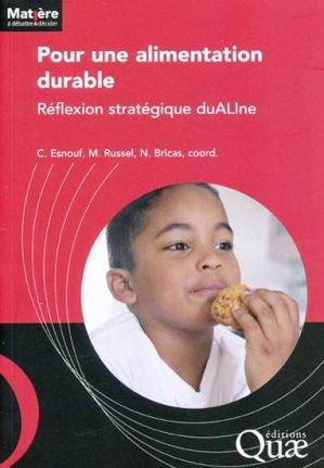 Pour une alimentation durable - quae  - 9782759216703 -