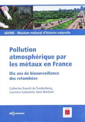 Pollution atmosphérique par les métaux en France - edp sciences - 9782759807253 -
