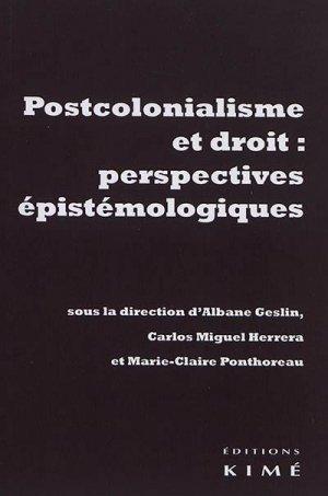 Postcolonialisme et droit : perspectives épistémologiques - Editions Kimé - 9782841749881 -
