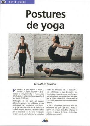 Postures de yoga - Aedis - 9782842599867 -