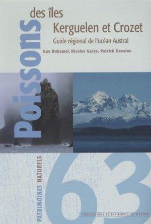 Poissons des îles Kerguelen et Crozet - museum national d'histoire naturelle - 9782856535783 -