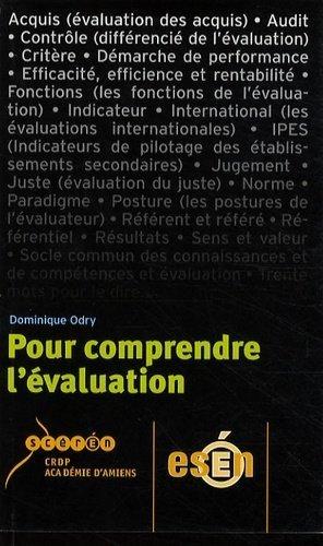 Pour comprendre l'évaluation - Canopé - CRDP de l'Aisne - 9782866153199 -