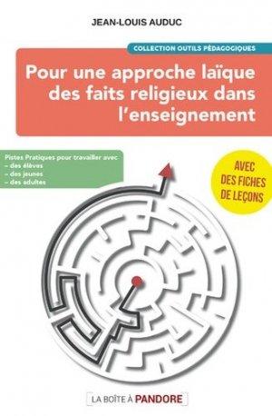 Pour une approche laïque des faits religieux dans l'enseignement - La Boîte à Pandore - 9782875575005 -