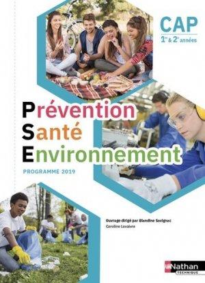Prévention Santé Environnement CAP 1re et 2e années - Nathan - 9782091653167 -