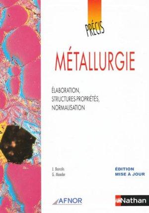 Précis de métallurgie - nathan / afnor - 9782091795829 -
