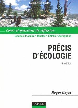 Précis d'écologie - dunod - 9782100496273 -