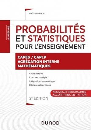 Probabilités et statistiques pour l'enseignement - dunod - 9782100806904 -