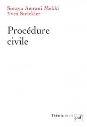 Procédure civile - puf - presses universitaires de france - 9782130552864 -