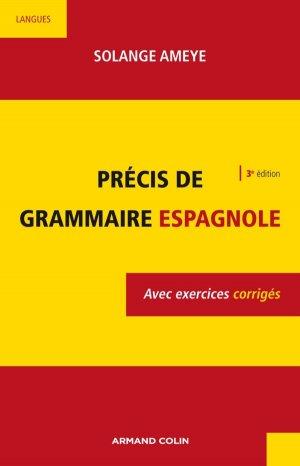 Précis de Grammaire Espagnole (3e Edition) - armand colin - 9782200255862