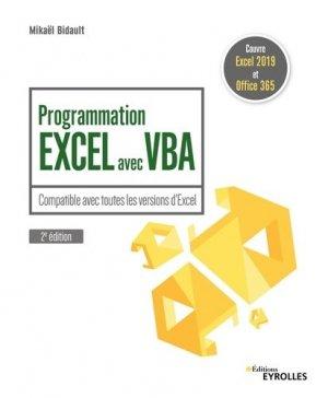 Programmation Excel avec VBA - eyrolles - 9782212677867