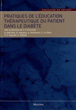 Pratiques de l'éducation thérapeutique du patient dans le diabète - maloine - 9782224033057 -