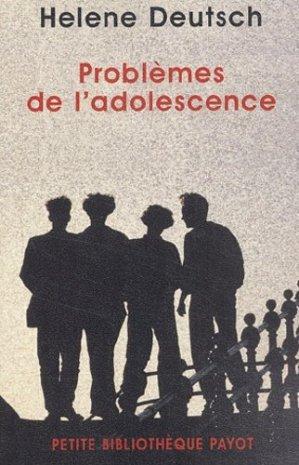 Problèmes de l'adolescence - Payot - 9782228897785 -