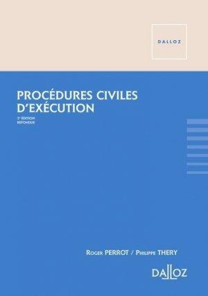 Procédures civiles d'exécution. 3e édition - dalloz - 9782247079063 -