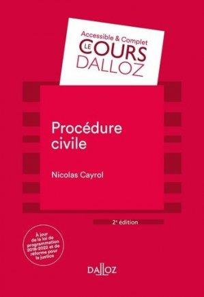 Procédure civile. 2e édition - dalloz - 9782247187256 -