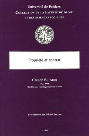 Propriété et contrat - LGDJ - 9782275026695 -