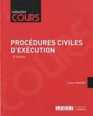 Procédures civiles d'exécution. 2e édition - LGDJ - 9782275057675 -