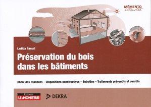 Préservation du bois dans les bâtiments - le moniteur - 9782281119183 -