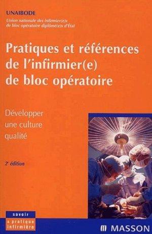 Pratiques et références de l'infirmière de bloc opératoire - elsevier / masson - 9782294013348 -
