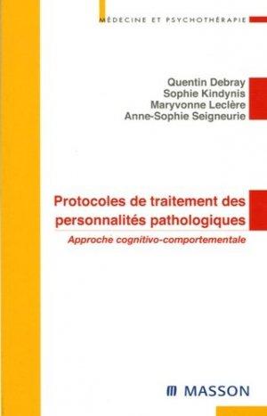 Protocoles de traitement des personnalités pathologiques - elsevier / masson - 9782294020117 -