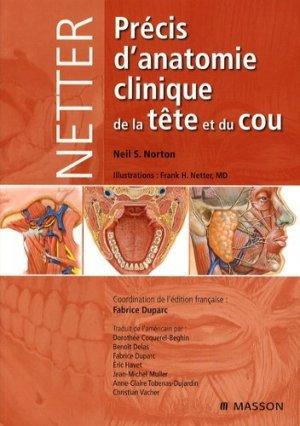 Précis d'anatomie clinique de la tête et du cou - elsevier / masson - 9782294703232 -