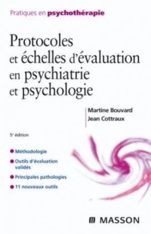 Protocoles et échelles d'évaluation en psychiatrie et  psychologie - elsevier / masson - 9782294710414