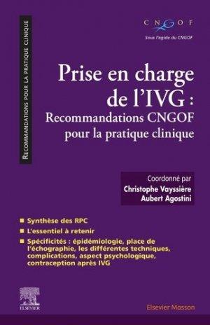 Prise en charge de l'IVG - elsevier / masson - 9782294764318 -