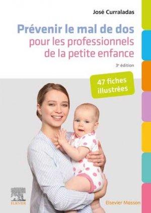 Prévenir le mal de dos pour les professionnels de la petite enfance - elsevier / masson - 9782294774218 -