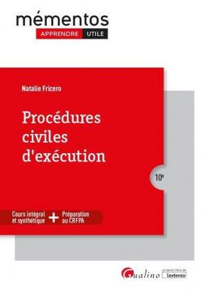 Procédures civiles d'exécution - gualino - 9782297133746 -