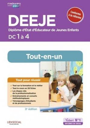 Préparation complète pour réussir sa formation DEEJE DC 1 à 4 - vuibert - 9782311207576 -